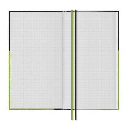 Бизнес-блокнот Феникс+ Сариф черный + Сариф салатовый 98 x 180 мм арт.50379/15