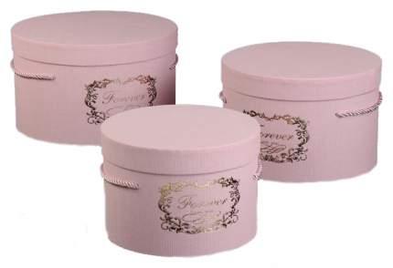 Набор коробок 3в1, розовый, 25 х 25 х 15 - 19 х 19 х 13 см Sima-Land