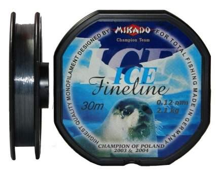 Леска монофильная Mikado FineLine Ice 0,12 мм, 30 м, 2,1 кг
