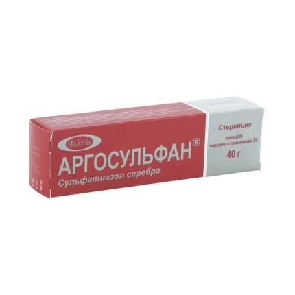 Аргосульфан крем 2 % 40 г
