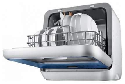 Посудомоечная машина компактная Midea MCFD42900BL MINI white/blue