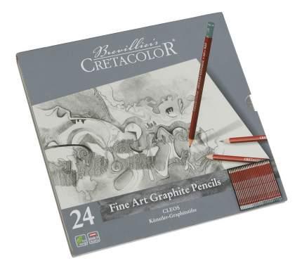 CretacoloR Набор чернографитовых карандашей CLEOS, 24 карандаша