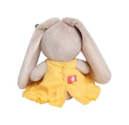 Мягкая игрушка Budi Basa Зайка Ми в желтом сарафане с морковкой 15 см