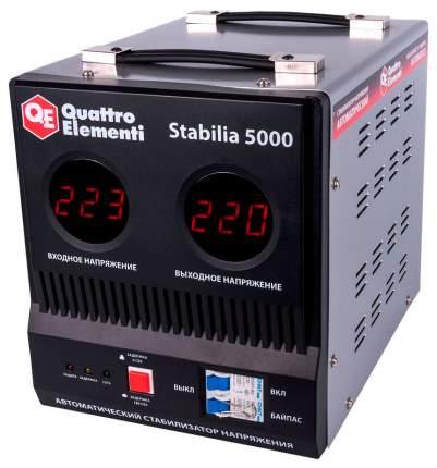 Стабилизатор напряжения Quattro Elementi Stabilia 5000 Серебристый, черный