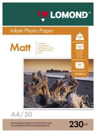 Фотобумага для принтера A4 LOMOND 230г/кв.м односторонняя матовая 50 л