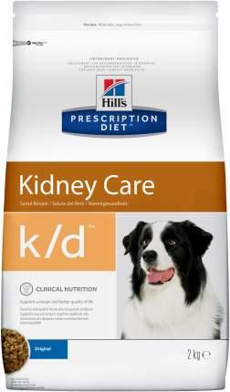 Сухой корм для собак Hill's Prescription Diet k/d Kidney Care, мясо, 2кг