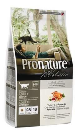 Сухой корм для кошек Pronature Holistic Indoor, для домашних, индейка и клюква, 0,34кг