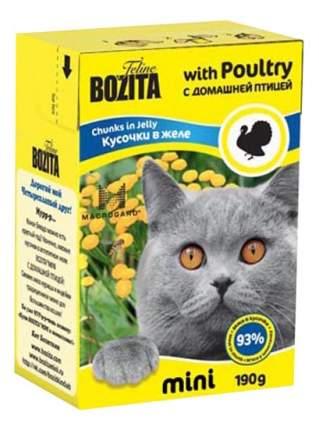 Влажный корм для кошек BOZITA Mini, домашняя птица, 190г