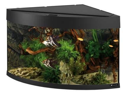 Аквариум для рыб Ferplast Dubai Corner 90, с изогнутым стеклом, черный, 180 л