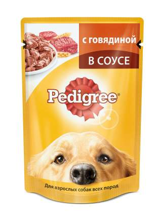 Влажный корм для собак Pedigree, говядина, 24шт, 100г
