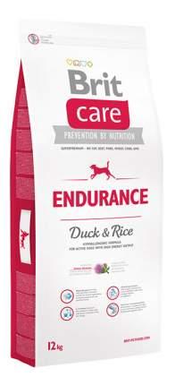 Сухой корм для собак Brit Care Endurance, для активных, утка и рис, 12кг