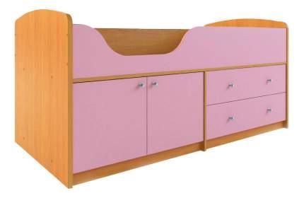 Кровать Сканд Мебель Приют-мини 007 М4 вишня/розовый