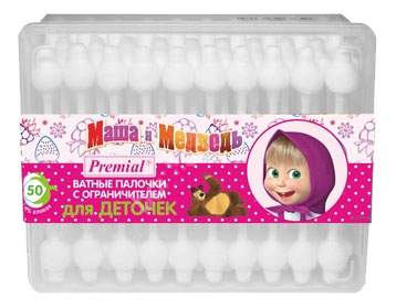 Ватные палочки детские Premial Ватные палочки для детей 50 шт.