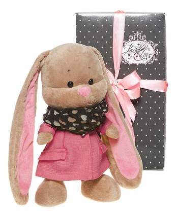 Мягкая игрушка Jack&Lin Зайка Лин в Розовом Пальто со Стильным Шарфом, 25 см