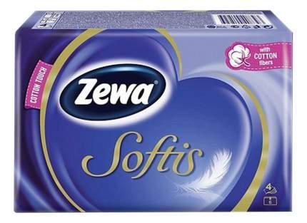 Носовые Платки Zewa Softis, 4 слоя, 10шт.Х 6