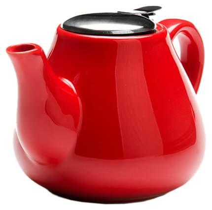 23056-5 Завароч/чайник КРАСНЫЙ керам 950млLR(х24)