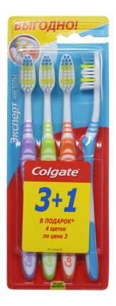 """Зубные щетки Colgate """"Эксперт чистоты"""" средней жесткости, 4 шт"""