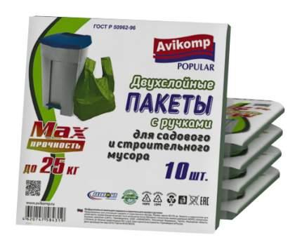 Мешок для мусора Popular 25 кг 10 шт двухслойный