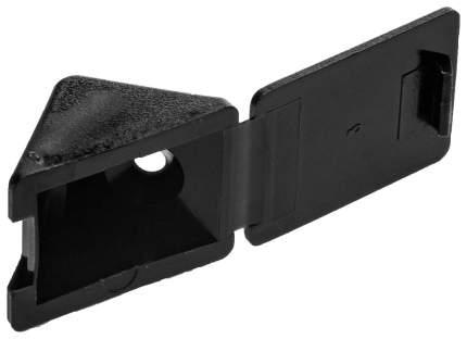 Крепежный угол Зубр с шурупом, черный, 4,0x15мм, ТФ6, 4шт