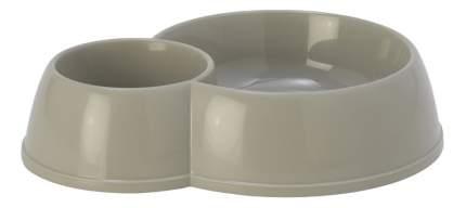 Двойная миска для собак MODERNA, пластик, серый, 2 шт 0.17 л и 0.45 л