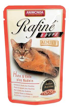 Влажный корм для кошек Animonda Rafine Soup Adult, утка, курица, 100г