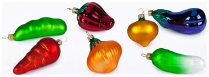 Набор елочных игрушек Елочка Овощи разноцветный C818