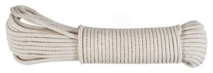 Веревка хлопковая вязаная, 6 мм х 15 м, FIT 68456