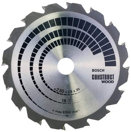 Диск по дереву Bosch STD CW 230x30-16T 2608640635