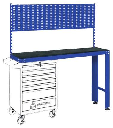 Верстак универсальный МАСТАК под тележку, задняя панель, синий 542-11500B