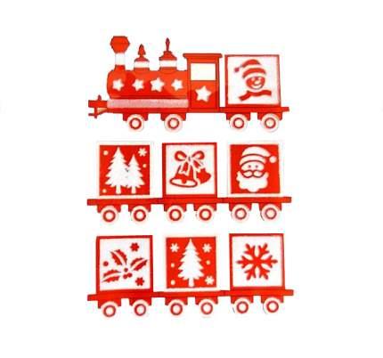 Наклейки для окна Поезд Рождественских Чудес 40*30 см RD-60370
