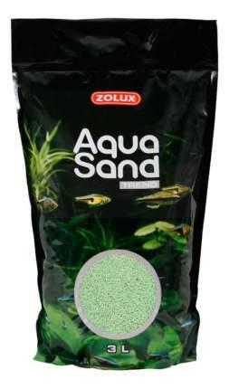 Кварцевый песок для аквариумов ZOLUX Aquasand Lime Green, светло-зеленый, 2,8 кг, 3 л