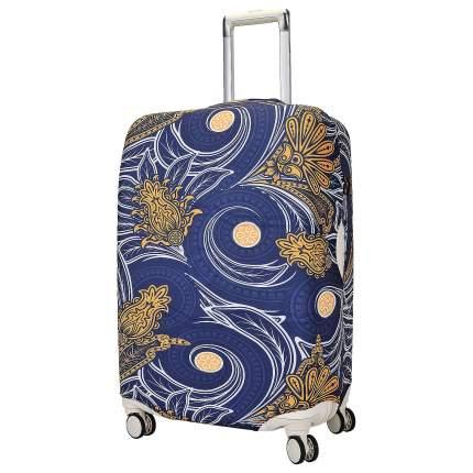 Чехол для чемодана Eberhart Swirl Flower Blue and Orange L