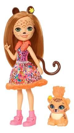 Кукла Enchantimals с любимой зверюшкой Чериш Гепарди