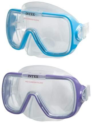 Маска для плавания Intex с55976 фиолетовая/голубая