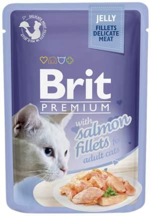 Влажный корм для кошек Brit Premium, лосось, 85г