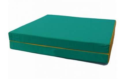 Гимнастический мат Perfetto Sport № 8 (100 х 200 х 10) складной 1 сложение зелено-желтый
