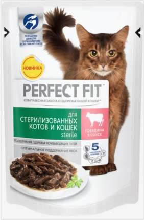 Влажный корм для стерилизованных кошек Perfect Fit Sterile с говядиной в соусе, 85г