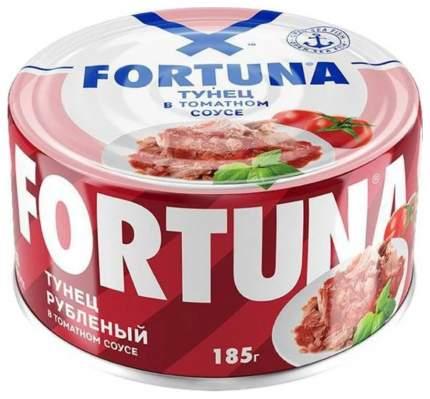 Тунец Fortuna рубленый в томатном соусе 185 г