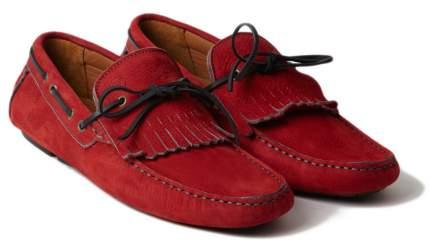 Мужские мокасины Jaguar Men's F-type Suede Driving Shoes Red, JFAAMSR7