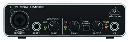 Аудиоинтерфейс Behringer U-Phoria UMC22