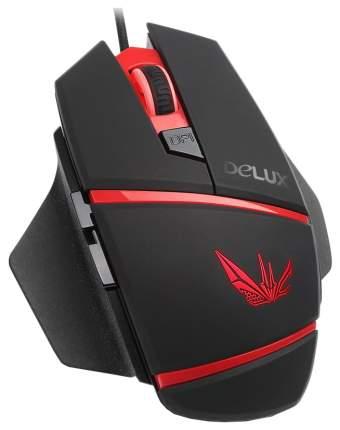 Проводная мышка Delux M611 Red/Black