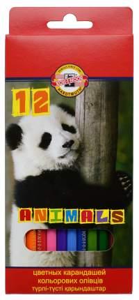 Карандаши цветные KOH-I-NOOR Животные 12 цветов