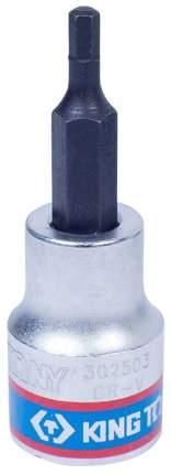 Торцевая головка с вставкой битой KING TONY 302503