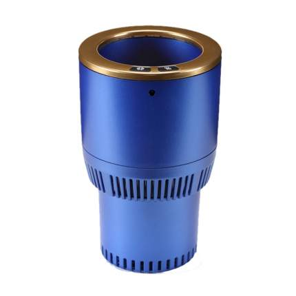 Термоподстаканник для подогрева и охлаждения напитков в авто Paltier, синий с золотом