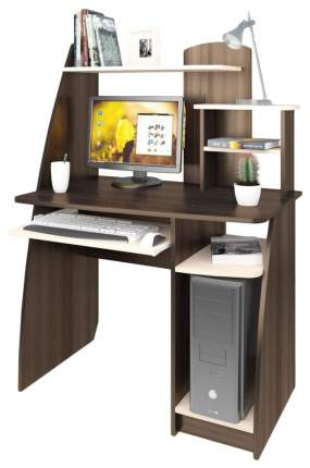 Компьютерный стол Атлант Интел 17 97x60x135 см, бежевый/коричневый