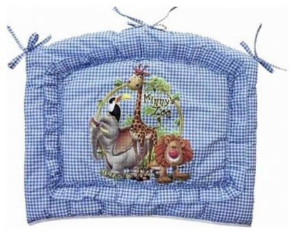 Бампер в кроватку Золотой Гусь Аленка, голубой