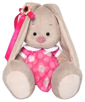 Мягкая игрушка BUDI BASA Зайка Ми в розовом платье с белым воротничком, 23 см