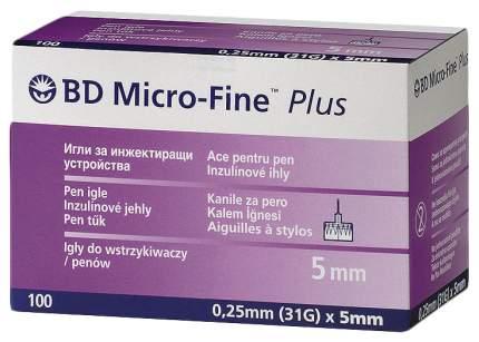 Иглы BD Micro-Fine Plus для шприц-ручки 0,25 х 5 мм 100 шт.