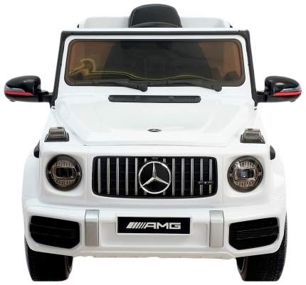 Электромобиль Sima-Land MERCEDES-BENZ G63 AMG белый, EVA колеса, кожаное сидение