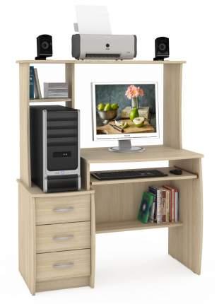 Компактный стол компьютерный Mobi Комфорт 5 СК дуб сонома 105х57х132